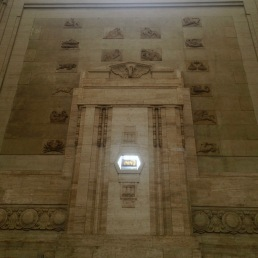 Art Deco wall inside the Milano Centrale train station.