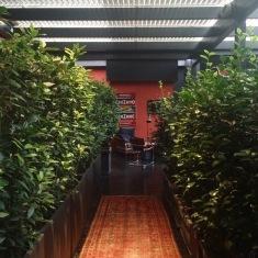Secret Garden in The Yard hotel in Milan.