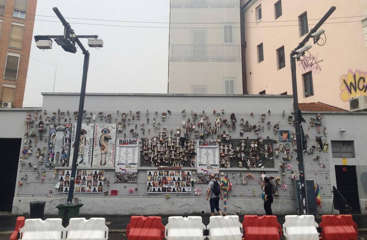 The Doll Wall, Milano, Italy.