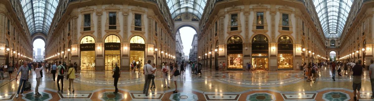 3 portals of Galleria Vittorio Emanuele.