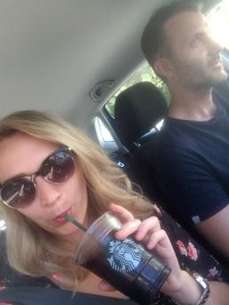 Road trip! Last Starbucks run as we embark on a weekend in Italy.