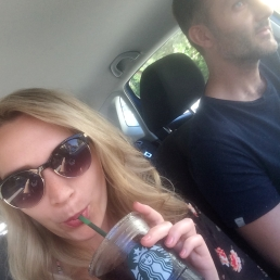Road trip! Last Starbucks run as we embark on a weekend in Italy.