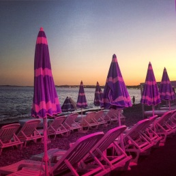 Plage Beau Rivage - after hours!